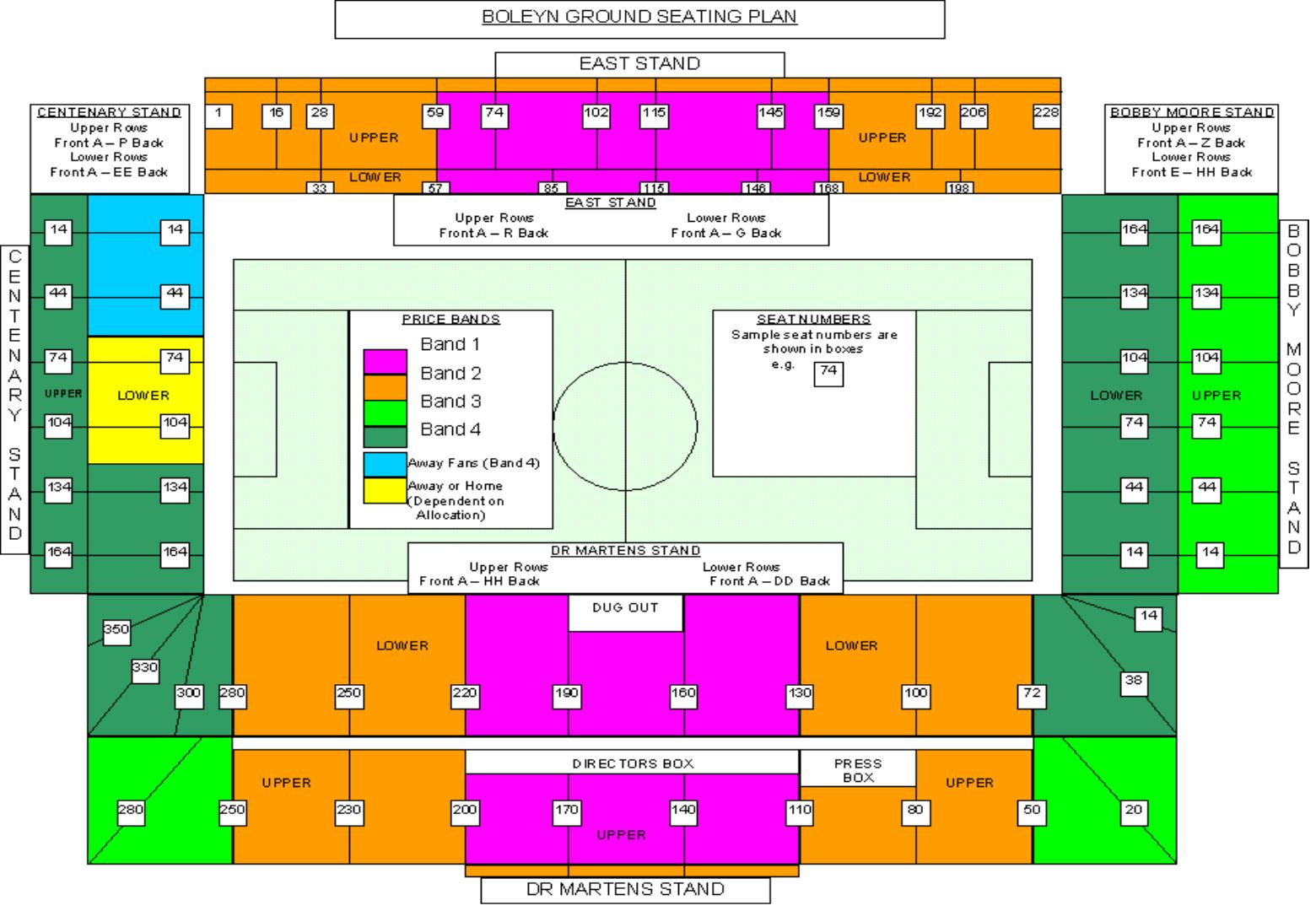 Football Stadium Floor Plan West Ham United